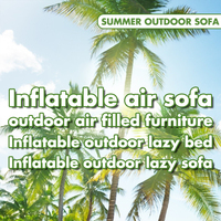 Inflatable outdoor lazy sofa / bed/ air filled furniture