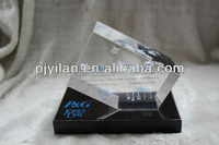 k9 clear crystal 5*5*8 cm engraved cube with black base blank crystal cubes for engraving