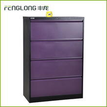purple stainless steel cabinet 4 drawer storage steel file closet