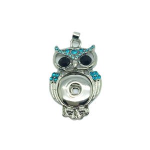 DIY Jewelry Metal Owl 18mm Snap Button Pendants