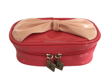 Women best selling PU leather popular makeup cosmetic bag