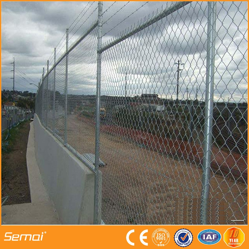 Professional manufacture 6 foot black vinyl chain link fence