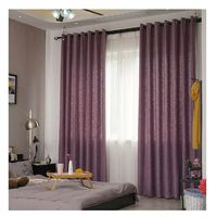 Made In China Cheap 100%Polyester Blackout Print Fabric Ready Made Screen Curtain Cotton Window
