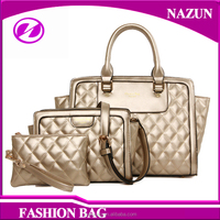 China supplier new product pu leather lady set bag 3pcs in 1 handbags set