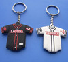 Double Side Hockey T-Shirt Rubber Silicone Keyrings