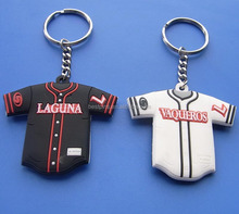 Double Side Hockey T-Shirt Rubber Sillicone Keyrings
