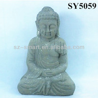 Carving cement clay buddha garden statues