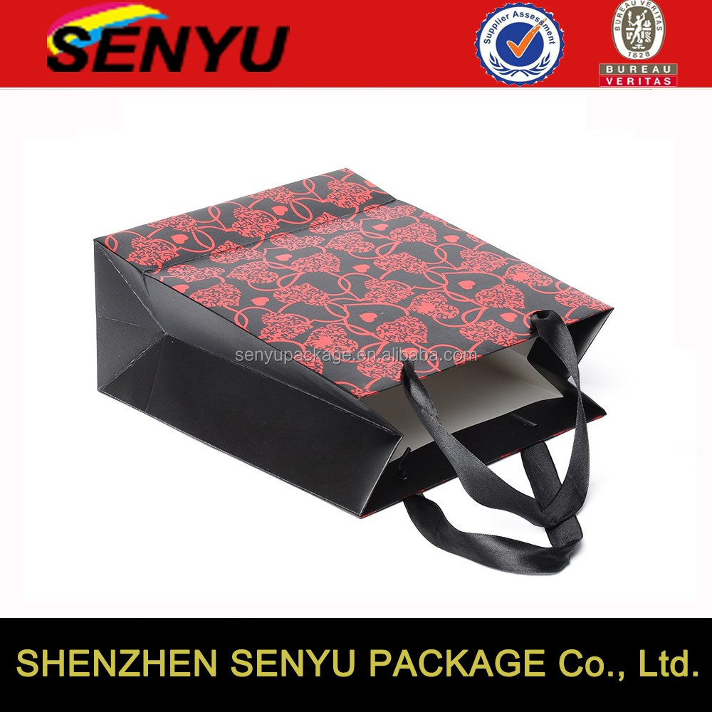 Wholesale economic black paper bag for charcoal