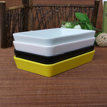 rectangle shape stoneware colorful ceramic dish and plate for hotel
