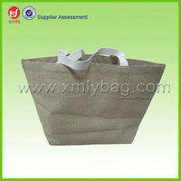 hot sale duralbe and resuable handled jute bag wine bag