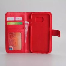 Multi Function Wallet Cover Case For Samsung S6,Flip Zipper soft PU Leather case cover with card slots