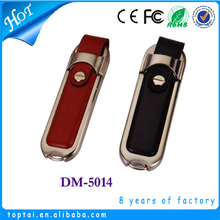 Cheapest promotional gift leather 512MB usb flash drives