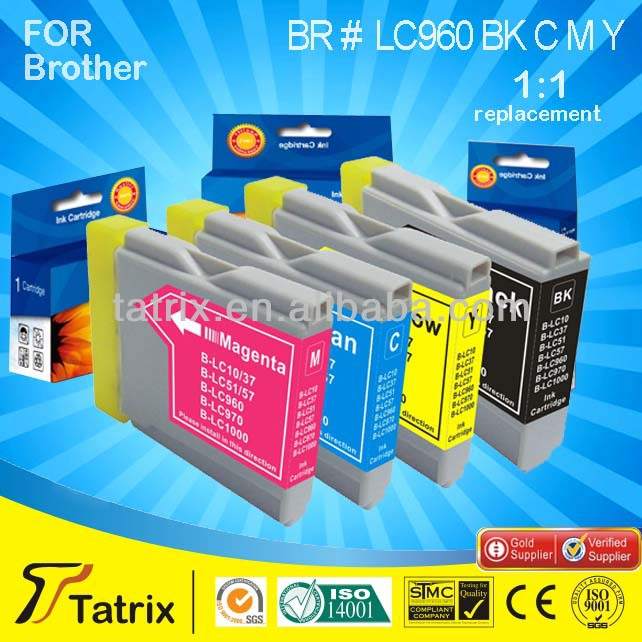 Compatible LC970/LC1000 BK C M Y ink Cartridge for Brother With 2 Years Warr