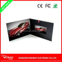 Magnetic ON/OFF LCD video card OEM 3.5 inch video greeting brochure card for Wedding/business use