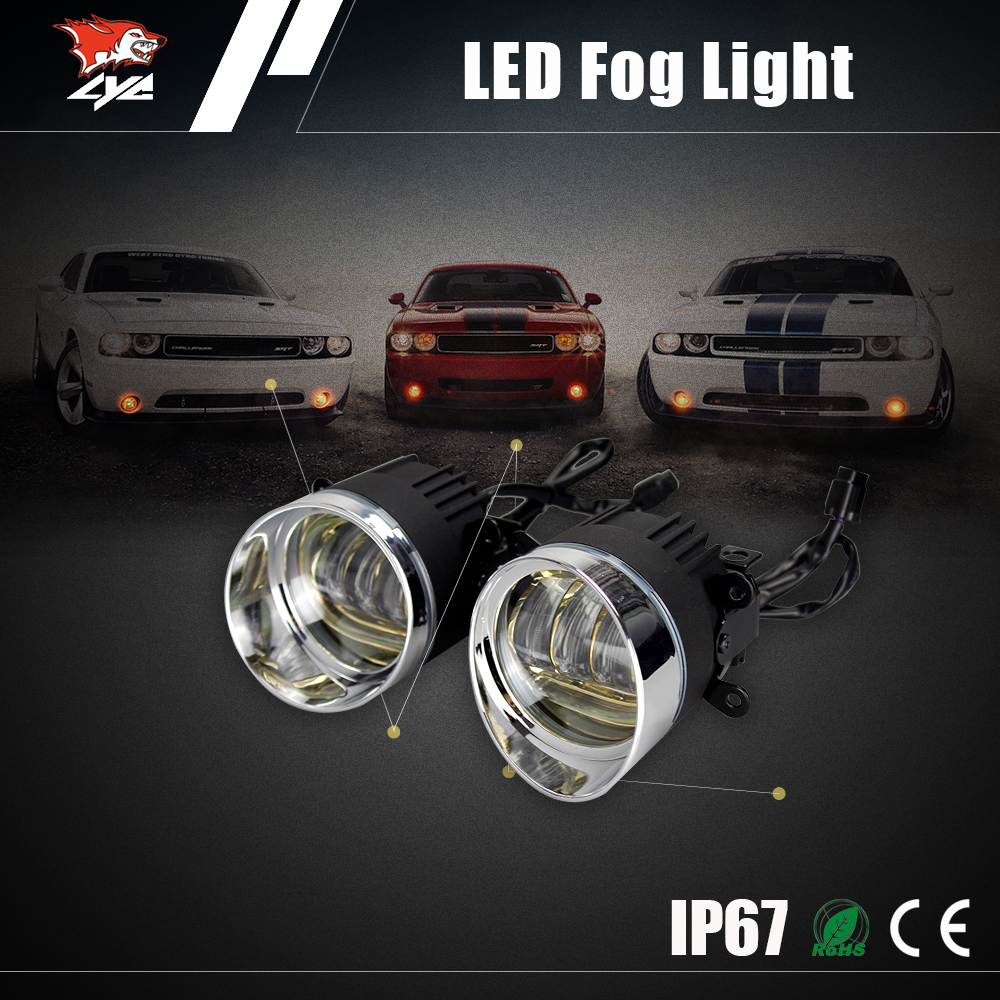 Car accessories 12 volt amber drl auto parts led fog lamp for toyota fortuner