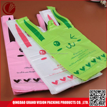 Cute pattern printed economic foldable plastic pe shopping bag