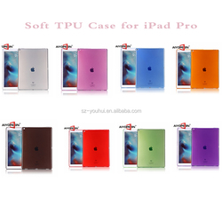 New Arrival For iPad Pro Case, 12.9 inch Soft TPU transparent Case for iPad Pro Soft Cover Protective