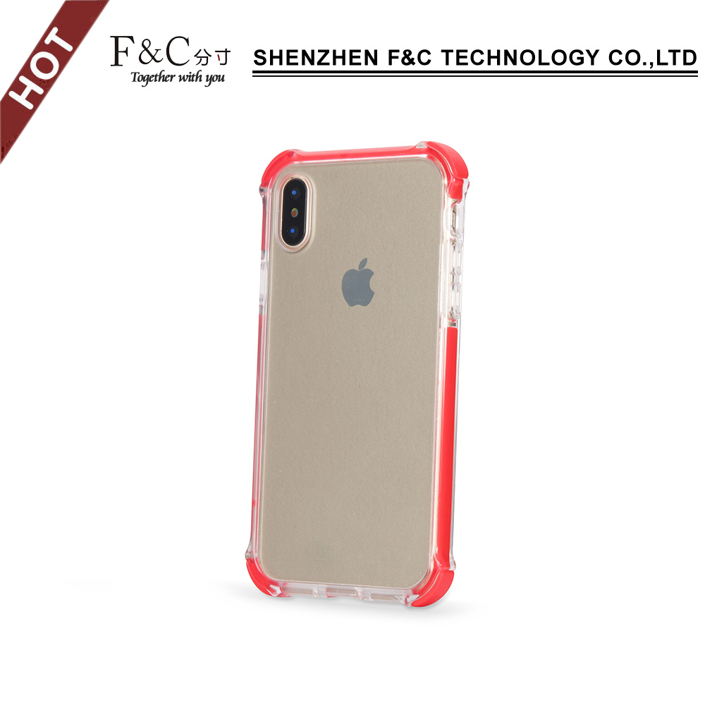 Durable PC and TPU leather case and Back cover case for iphone8/X