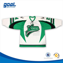 Top quality custom youth team set canada green hockey jersey