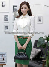 2013 KOREAN DESIGN FASHION LONG SLEEVE OFFICE LADY DRESS