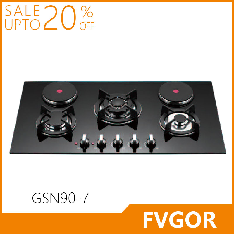 Fvgor GSN90-7 new model blue flame electric stove and hob gas hot plate cooker