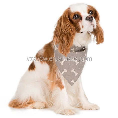 Free sample China manufacturer custom print logo pet dog bandana wholesale