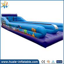 Hot Inflatable sport games two lanes adult inflatable bungee run for sale