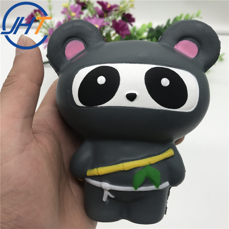 Good Quality Anti Stress Slow Rising Soft Kawaii Toys For Kids and Adult PU Squishy Animals Toys Japanese Ninja Bear