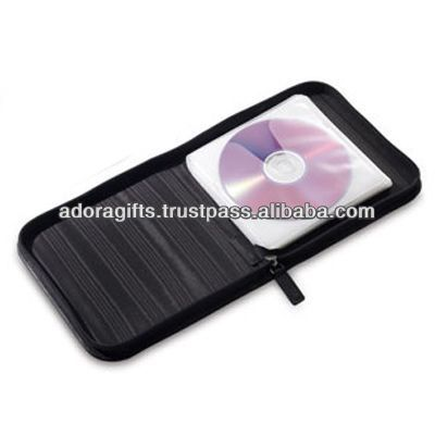 ADACD - 0007 cd cover design / slim genuine leather cd case / fancy leather single cd holder