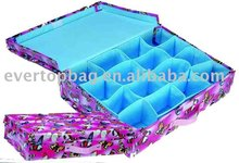 High elegant custom houseware 16 compartments storage case