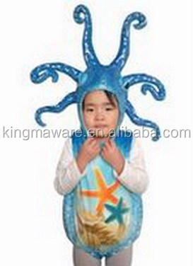 new fashion plush octopus mascot costume plush material octopus shaped kids coat plush sea animal costume plush octopus costume