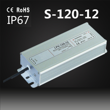12v 120w Electrondic LED Driver ip67 120w 12v led outdoor waterproof switch power supply