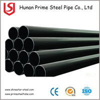 Prime quality building material/metal Q345 Q235B ERW black round steel