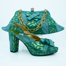 Beatiful italian matching shoes and bag set for women