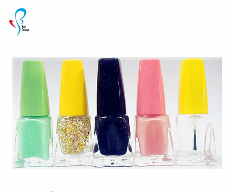 OEM cute color long lasting fruit scent shimmering powder nail polish