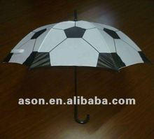 Football Design Curve Handle Straight Umbrella