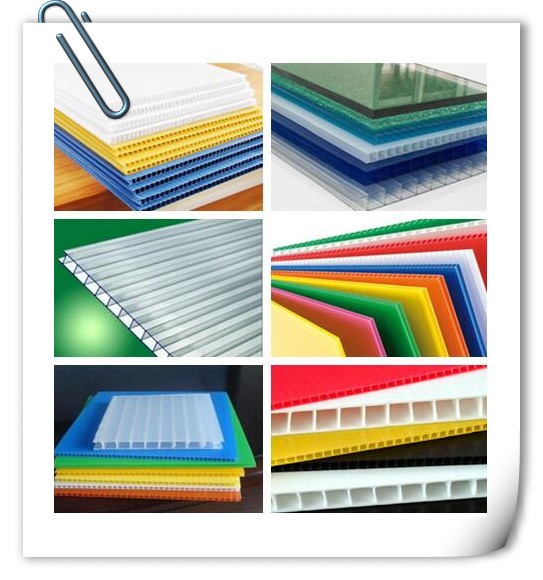 colored PP plastic hollow sheet pp corrugated sheets with different thickness and density