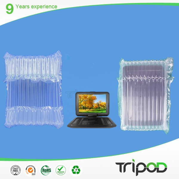 Hot sale plastic inflatable air column bag for packing DVD,LCD