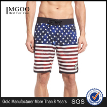 Top Quality Custom Sublimated America Flag Print Scallop Board Shorts Beach Stretch Polyester Blank Board Shor