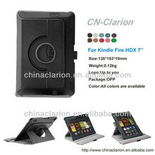 Rotating for kindle fire hdx 7, Smart Swivel Leather Case With Hard Shell For Kindle Fire HDX 7