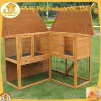 Corner Design Rabbit Hous Sale Wooden Rabbit Hutch With Run Pet Cages, Carriers & Houses