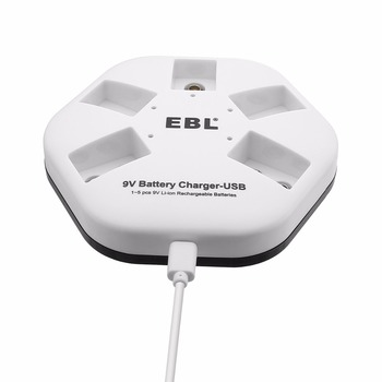 Rohs Certified Portable USB Input 9V Li - ion Rechargeable Battery Charger 5 Slot Fast Charge
