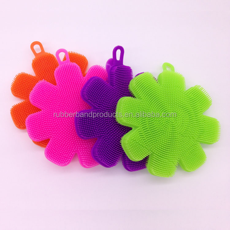 Promotional Silicone Washing Cleaning Dish Brushes, Kitchen Bowl Cleaning Brushes