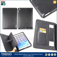 Christmas promotion price flip pu leather case for ipad air with arm blet