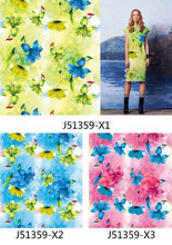 custom dress printing chiffon organza fabrics flower prints with all fabrics as your requires No moq fabrics