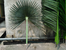 Indoor/outdoor Artificial/fake decor fan palm tree leaves with anti-UV for christmas decoration