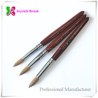 Factory direct red wood personalized kolinsky acrylic nail brush