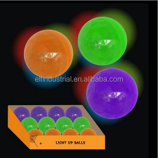 LED Luminescence Flash Bouncing Ball glow in the dark beach ball Halloween 65 mm led bouncing ball