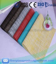 70% PVC and 30%polyester textilen fabric placemats for dining table