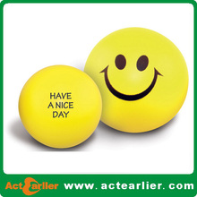 cheap smiley face stress ball for promotionaal
